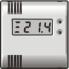 thermostats with display and buttons